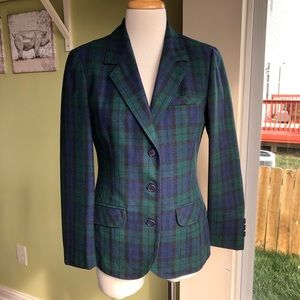 Pendleton blackwatch tartan plaid blazer jacket s
